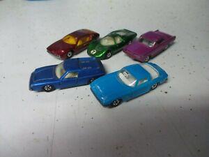 Matchbox Lesney Superfast Junk Lot of 5 assorted cars, C5+