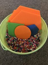 Perler Beads 1/2 Bucket And 6 Peg Boards