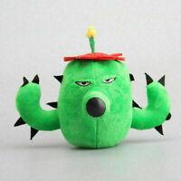 Plants vs Zombies PVZ Cactus Plant Plush Toy Cute Soft Stuffed Doll for Kids