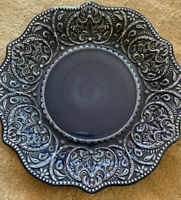 Pier 1 Imports Exclusive Hand Painted Stoneware Dinner Plate New