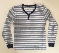 Shades Of Grey By Micah Cohen Long Sleeve Striped Henley Size M