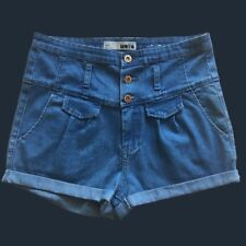 Topshop MOTO High Waisted Denim Shorts UK 10 / EUR 38/ US 6  - Brand New