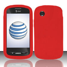 For ZTE Avail Z990 Merit 990g Rubber SILICONE Soft Gel Skin Phone Case Cover Red