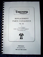 TRIUMPH  6T TR6 T110 T120 PARTS BOOK MANUAL 1960 TP28 INCL SUPPLEMENTS TO 1962