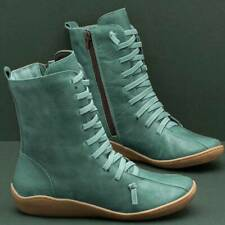 Outdoor Middle Boots Flat Shoes 5 Colors Zip Fashion Winter Warm Womens Wear LE