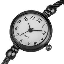 Fashion Womens Bracelet Watches Round Dress Quartz Analog Stainless Steel Case