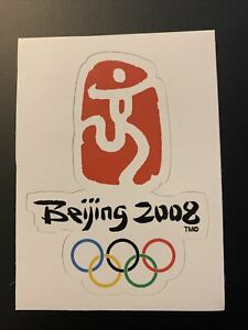 "2008 Summer Olympic Games Beijing China Sticker 2.7"" x 3.7"""