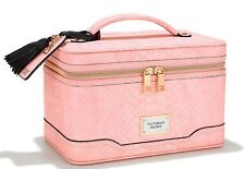 Victorias Secret Train Case Pink Python Makeup Bag Cosmetic NWT Limited Edition