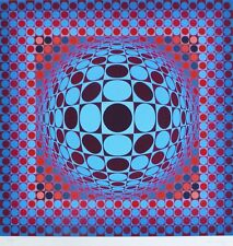 "VICTOR VASARELY "" HANG "" 1979 HAND SIGNED LIM.ED 95/250 silkscreen"
