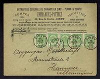 1907 Ciney Belgium Advertising Cover to Hannover Germany Emmanuel Pottiez Judaic
