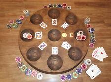 Mondänes Pochbrett aus Massiv-Holz, ähnlich Poker