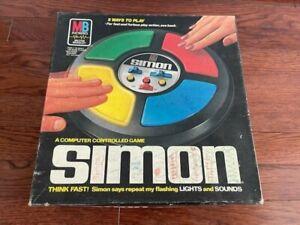 1978 Vintage SIMON Electronic Computer Controlled Game Milton Bradley with Box