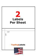 Half Sheet Shipping Labels 85 X 55 Premium Self Adhesive 200 400 600 1000