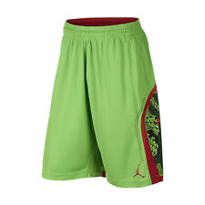 Nike sz M Men's JORDAN FLIGHT PRINTED PERFORATED Shorts NEW 688529 360 Green