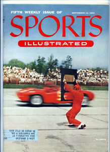 Sports Illustrated _No. 5 Sept 13 1954 Magazine VTG Auto Racing Golf Marciano