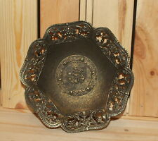 Vintage Italian ornate floral brass bowl