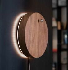 Story Levitating Eclipse Wall Clock in Walnut by Flyte