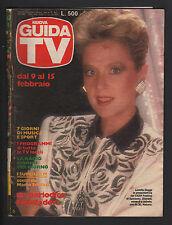 NUOVA GUIDA TV MONDADORI 6/1986 LORETTA GOGGI MARIANGELA MELATO PROGRAMMI LOCALI