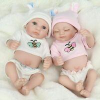 "10"" Lifelike Baby Dolls Lifelike Newborn Babies Vinyl Silicone Twins Baby Doll"