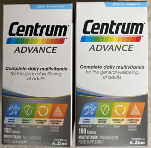 2 X Centrum Advance Multivitamins and Minerals tablet, 3x100 from A to Zinc NEW