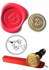 Wax Stamp, HARRIER Jet Aircraft Design and Red Wax Stick XWSC060-KIT