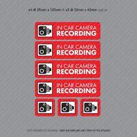 7 x Dash Cam Recording Stickers CCTV In Car Video Camera Decal Sticker - SKU3103