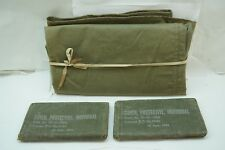 VINTAGE MILITARY SURPLUS WWII WW2 PROTECTIVE COVER 72-C-1000 LOT 2 US ARMY GAS d