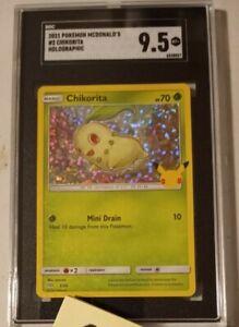 2021 CHIKORITA HOLO McDonald's Pokemon Card 25th Anniversary SGC 9.5 NOT PSA