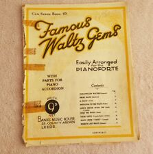 piano solo FAMOUS WALTZ GEMS arr g h farnell , 23pages banks gem series 19