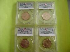 2007-P&D GEORGE WASHINGTON PCGS MS69 POSITION A&B SATIN FINISH 4-COIN DOLLAR SET