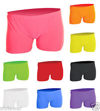 Girls Neon Lycra Hot Pants Shorts Dance Wear,Summer Pant Fancy Dress 5-12 Years