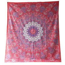 Tagesdecke Königselefanten Paisley rot pink 240x210cm Überwurf Baumwolle