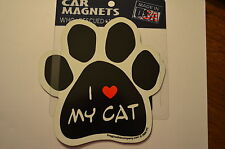 """CAR MAGNET """"I LOVE MY CAT""""  FOR CAT LOVERS"""