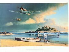 A Time for Heroes Print By Robert Taylor WWII RAF Spitfire Autographed & Signed