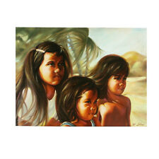 """""""Children of Hawaii"""" By Anthony Sidoni Signed Oil Painting 18""""x24"""""""