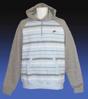 NEW Nike Sportswear NSW Vintage Hoodie Light Blue & Grey Small