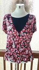 Notations women's Size XL Top.  Multi Colored. Short Sleeve