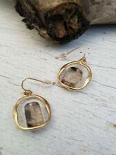 Anthropologie Gold Natural Stone Drop Earrings **NEW**