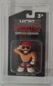 Macho Man USA Red White Blue Micro Brawler w Protector WWF Randy Savage WWE WCW