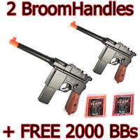 Toy Gun 2 Airsoft Spring Toy Gun Pistol Broomhandle Gun M32 WWII WWI FREE 2K BBs