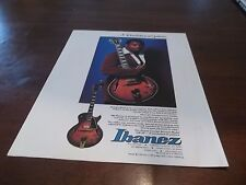 1979 Vintage PRINT Ad for Ibanez GB-10 Electric Guitar George Benson photo
