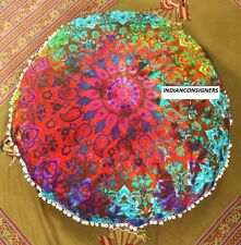 "Mandala Floor Cushion Cover Home Decor Ombre 100 % Cotton Bohemiam 32"" Inches"