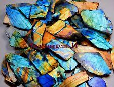 1260 Ct Natural Multi Fire LABRADORITE Spectrolite Rock Rough Tile Slab GEMSTONE
