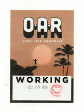 O.A.R. Oar 2018 Just Like Paradise Tour Working Crew Satin Backstage Pass