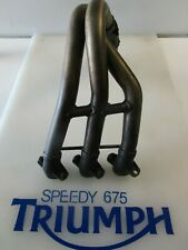 TRIUMPH DAYTONA 675 R OVAL EXHAUST DOWN PIPE HEADERS T2200819 2013 ONWARDS