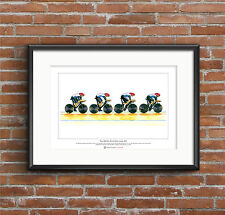 Team GB Men's Cycling Pursuit Team 2012, Limited Edition Fine Art Print A3 size