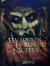 2002 Halloween Horror Nights 12 CARETAKER Islands Of Fear Shirt Size 2 XL