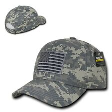 ACU Camo USA US American Flag Patch Military Army Tactical Operator Cap Hat
