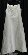 Cinderella white ball gown Wedding formal Flower girl Bead Communion Bride L 14