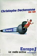 Publicité advertising 1998 Radio Europe 1 Christophe Dechavanne